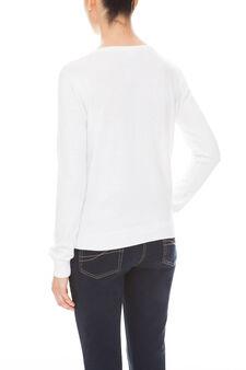 Cardigan in cotone, White, hi-res