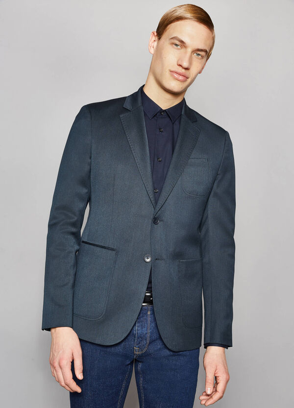Elegant, slim-fit jacket with lapel collar | OVS