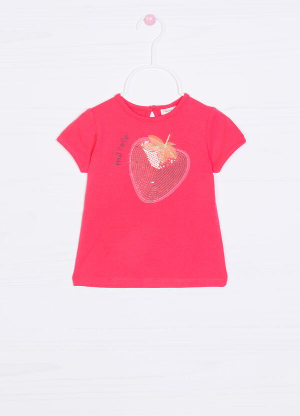 T-shirt cotone stretch con patch | OVS