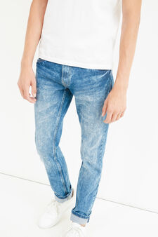 Skinny-fit mis-dyed-effect jeans, Medium Wash, hi-res