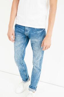 Jeans straight fit effetto maltinto, Lavaggio medio, hi-res