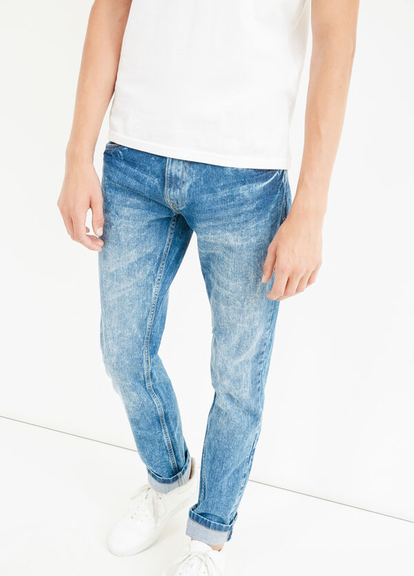 Skinny-fit mis-dyed-effect jeans | OVS