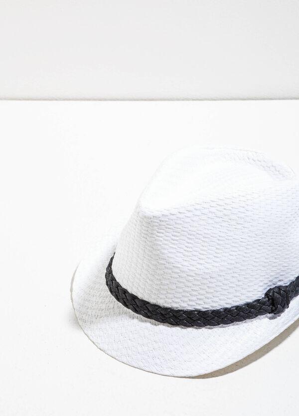 Cappello in paglia con fascia intrecciata | OVS