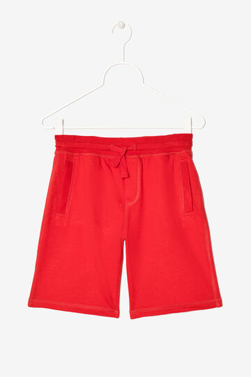 Bermuda shorts with pockets and drawstring, Coral Pink, hi-res