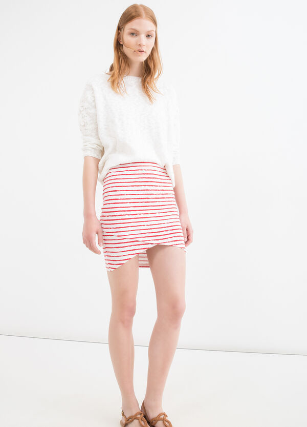 Stretch striped pencil skirt | OVS