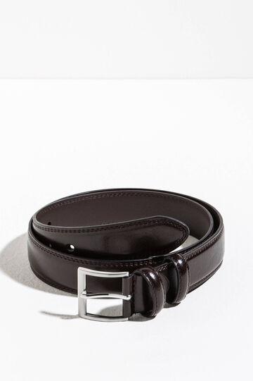 Hammered-effect belt, Dark Brown, hi-res