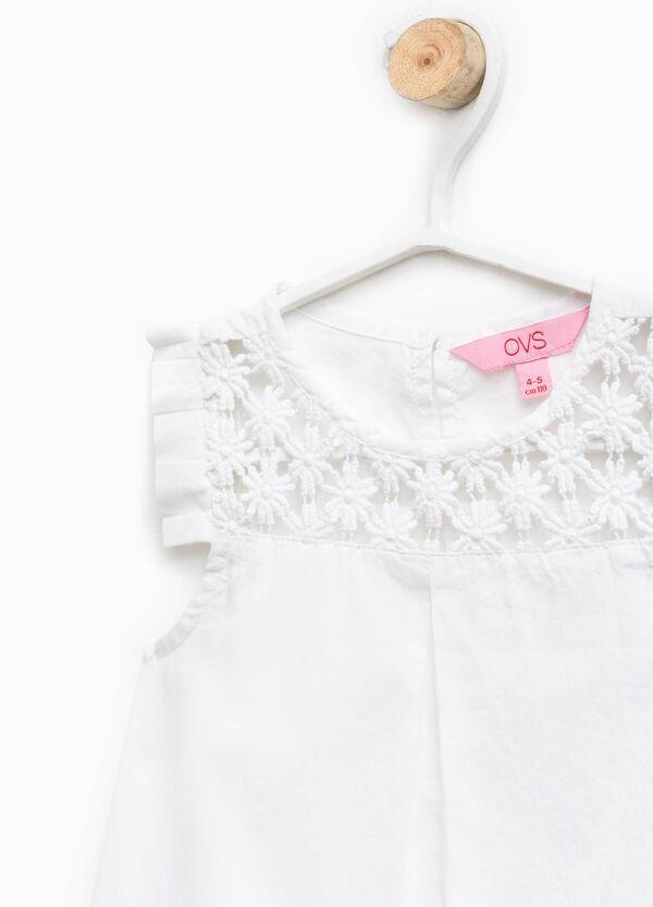 Sleeveless shirt with lace   OVS