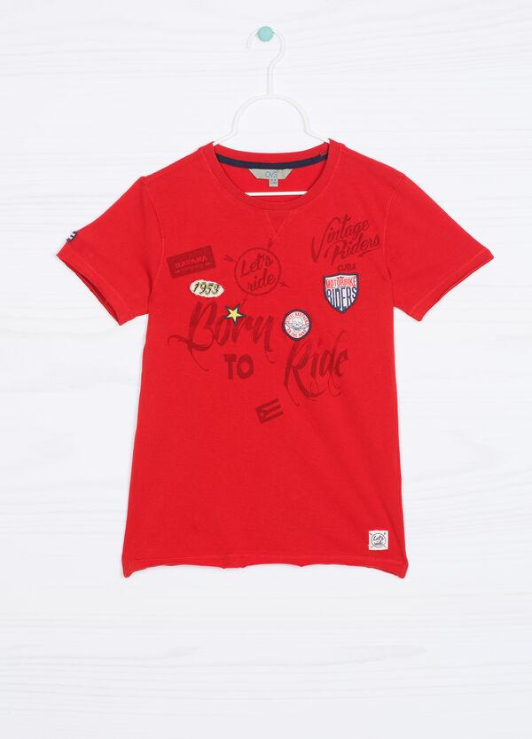 T-shirt puro cotone con patch | OVS