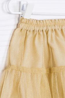 Flounced skirt in tulle, Golden Yellow, hi-res