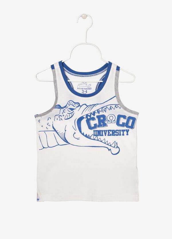 Cotton vest top with print.   OVS