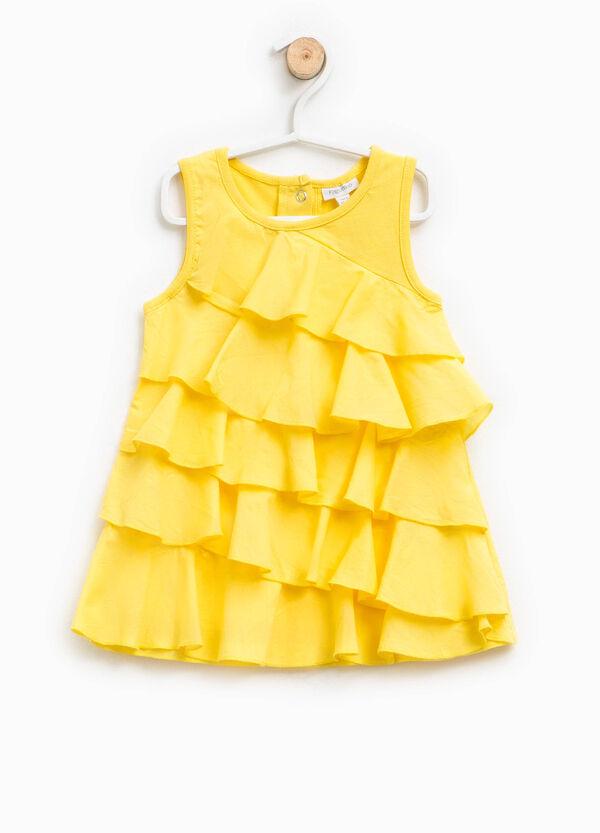 Flounced sleeveless dress | OVS