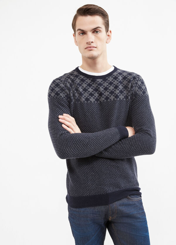 Rumford wool and cashmere pullover with pattern | OVS