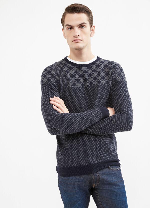 Jersey Rumford en mezcla de lana y cachemira con fantasía | OVS