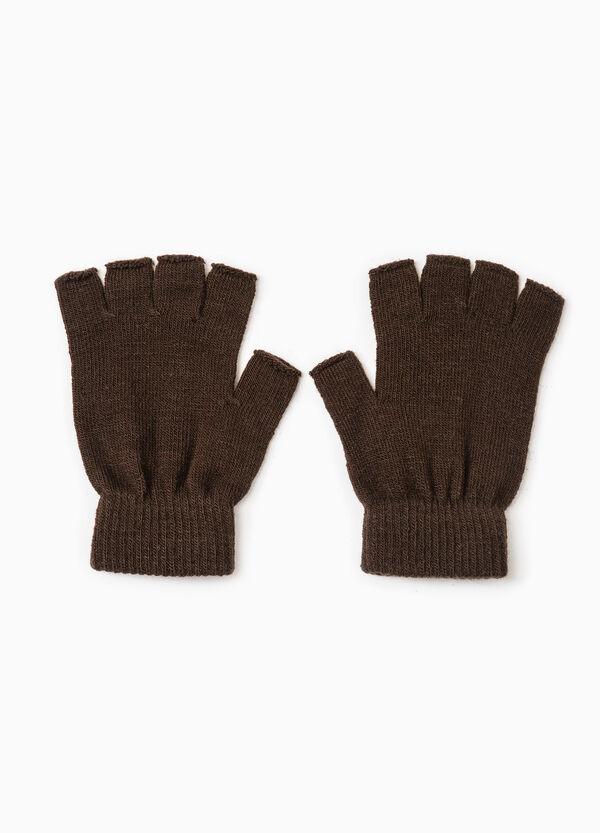 Fingerless gloves with ribbing   OVS