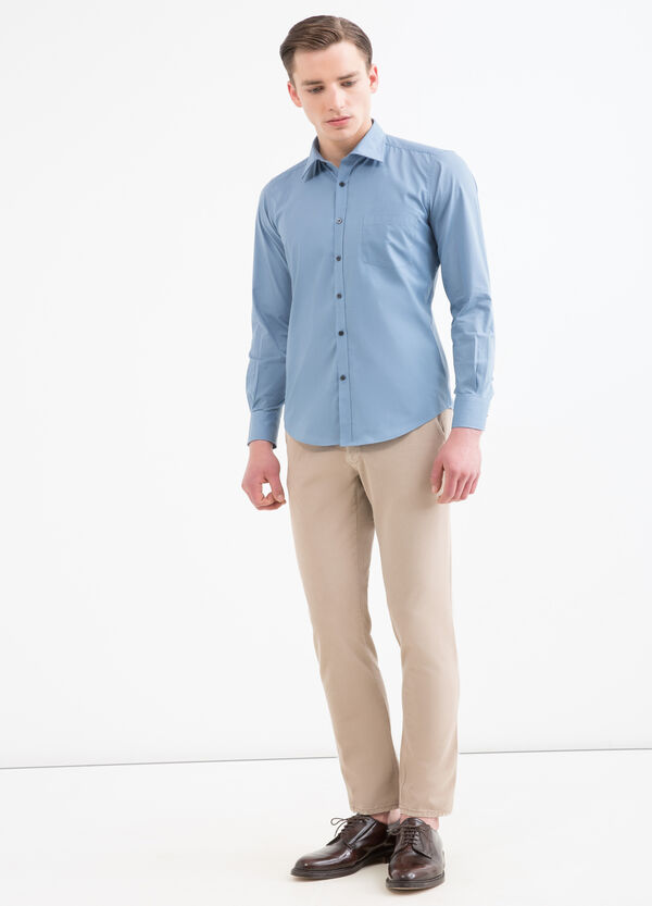 Slim-fit shirt in cotton blend | OVS