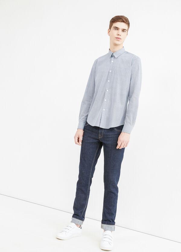 Camicia casual stampata cotone | OVS