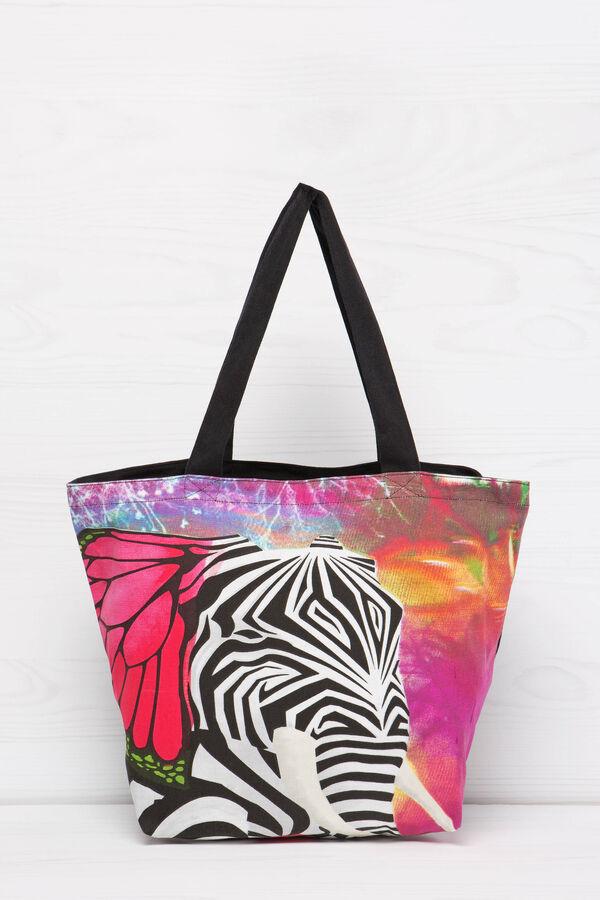 Shopping bag cotone con stampa | OVS