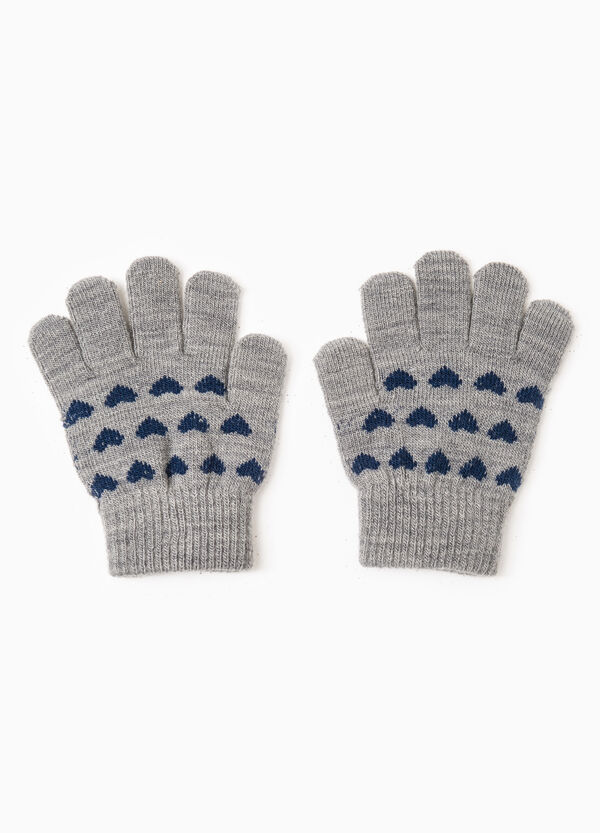 Solid colour gloves with heart embroidery | OVS