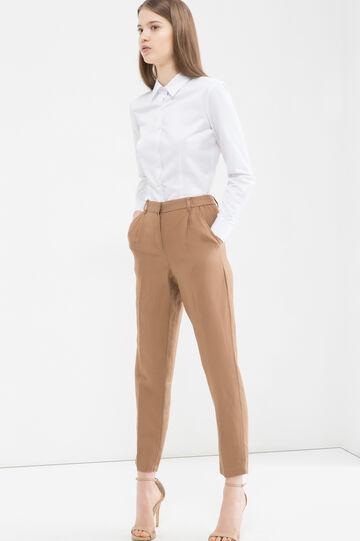 Cotton blend shirt., White, hi-res