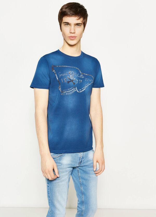 T-shirt effetto delavato con stampa G&H | OVS