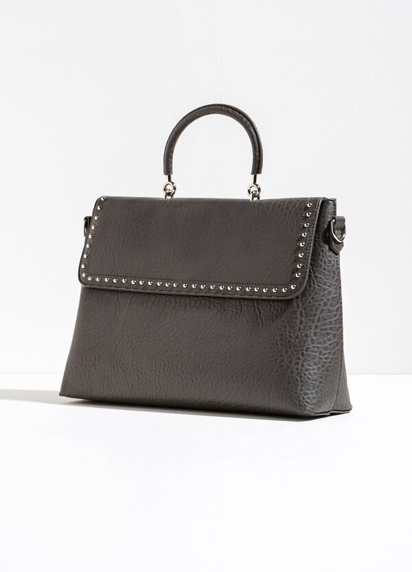 Handbag with zip and snap buttons | OVS