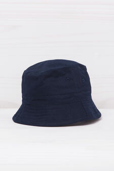 Solid colour fishing hat., Navy Blue, hi-res
