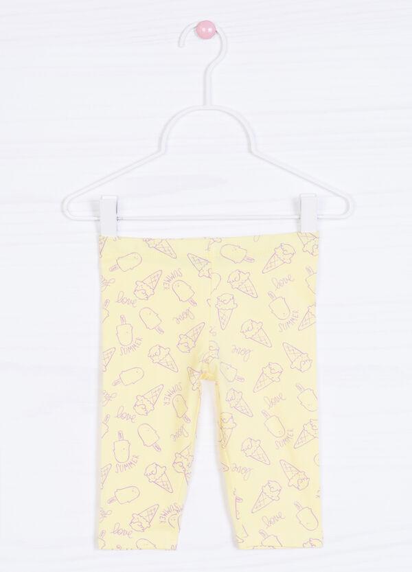 Pantaloni cotone stretch fantasia   OVS