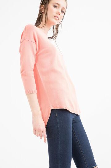 Viscose blend pullover., Salmon, hi-res