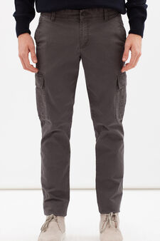 Regular fit stretch chinos, Slate Grey, hi-res