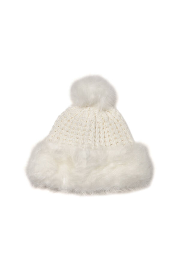 Beanie cap with faux fur inserts | OVS