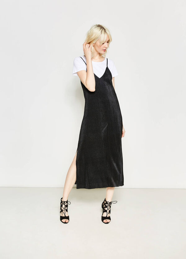 Ribbed dress with short sleeves | OVS