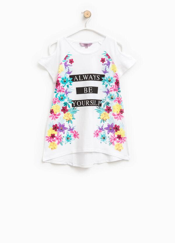 T-shirt apertura sulle maniche e stampa | OVS