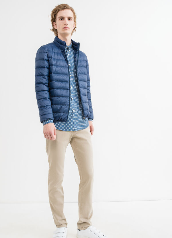 Solid colour quilted down jacket | OVS