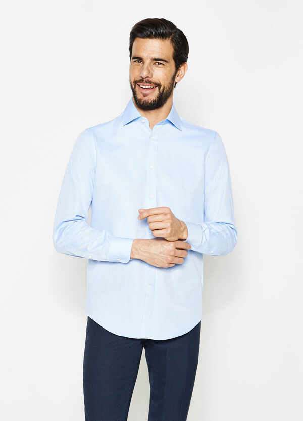 Camicia formale regular fit tinta unita   OVS