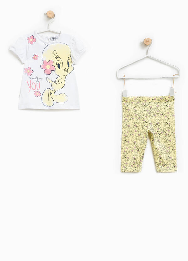 Tweetie Pie stretch T-shirt and trousers outfit | OVS