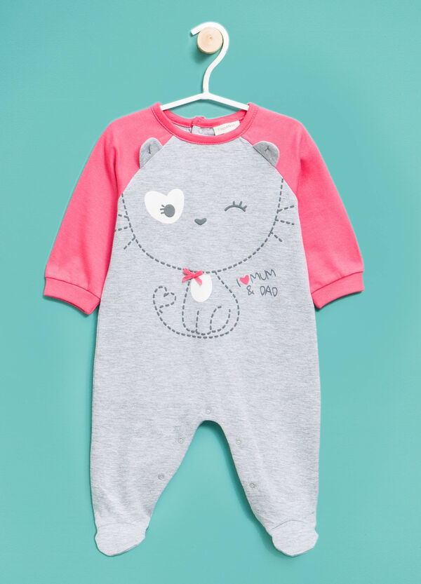 Sleep suit with ears and bow | OVS