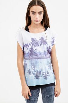 T-shirt con top interno Teen, Nero/Bianco, hi-res