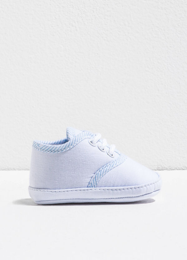 Fabric shoes with striped inserts | OVS
