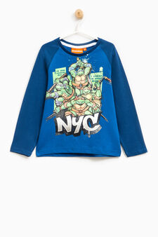 T-shirt maxi stampa Tartarughe Ninja, Nero/Verde, hi-res