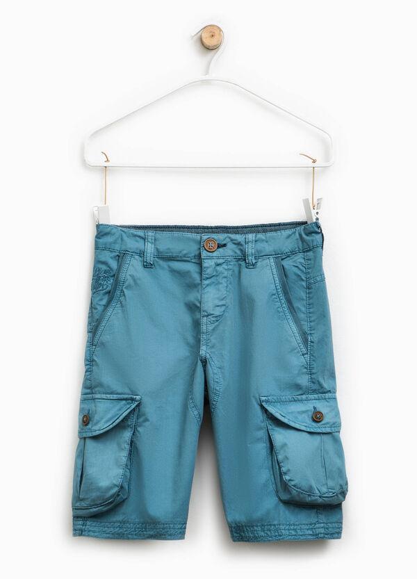 Cotton cargo chino Bermuda shorts   OVS
