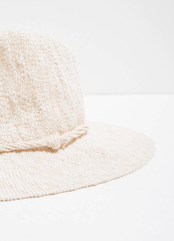 Sombrero en punto tricot con ala ancha | OVS