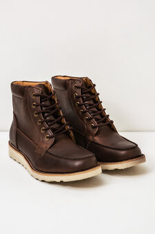 Boots with contrasting sole, Brown, hi-res