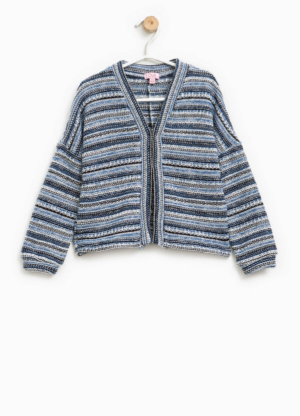 Striped chunky knit cardigan | OVS