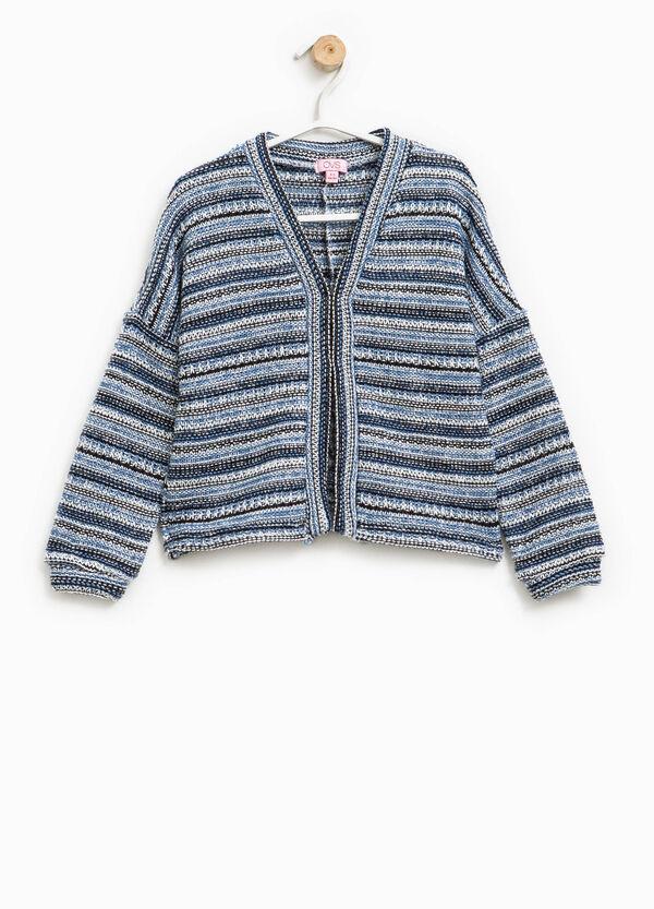 Cárdigan en punto tricot grueso con rayas | OVS