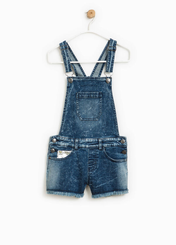Denim dungarees with sequins | OVS