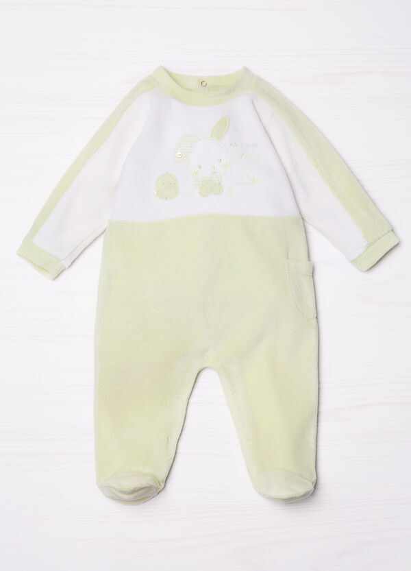 Cotton blend onesie with patches | OVS