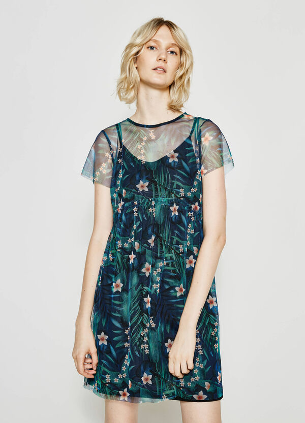 Tulle dress with floral pattern | OVS