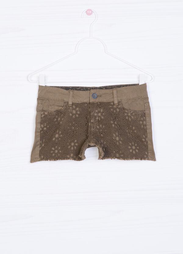 Shorts in puro cotone con inserto | OVS