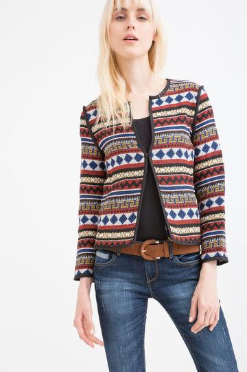 Viscose blazer with ethnic print