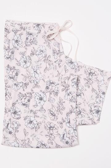 Pantaloni pigiama pura viscosa, Rosa, hi-res